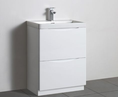 TB Smooth Square Two Drawer Unit and Basin